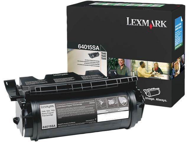 Lexmark 64015SAT64x Standard Yield Print Cartridge; black 6,000 page yield  (Return Program)