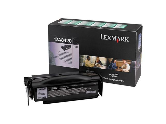Lexmark 12A8420 T430   Print Cartridge; black 6,000 page yield (Return Program)