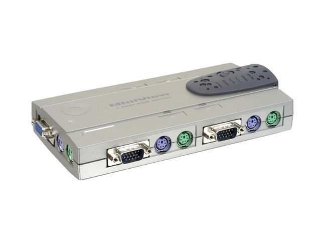 IOGEAR GCS14 4-Port MiniView Compact KVM Switch Kit w/Cables