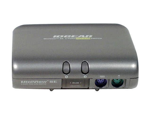IOGEAR GCS82B MiniView SE KVM Switch Kit w/Cables