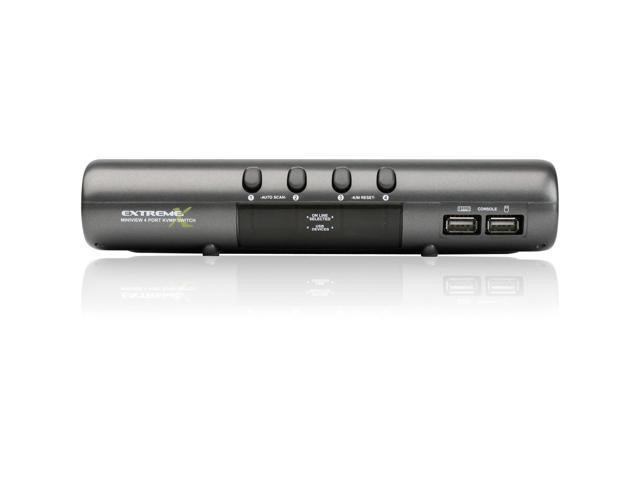 IOGEAR GCS1734 4-port MiniView Extreme Multimedia KVMP Switch Kit w/Cables