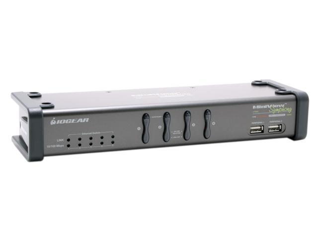 IOGEAR GCS1774 Miniview Symphony Multi-function 4-Port KVM Switch