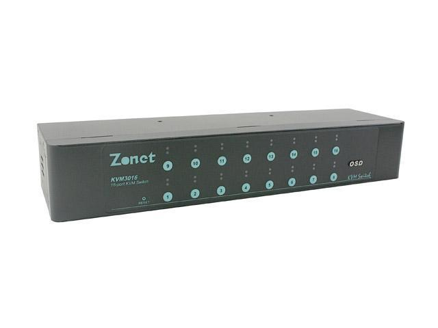 Zonet KVM3016 16 Ports KVM Switch w/OSD