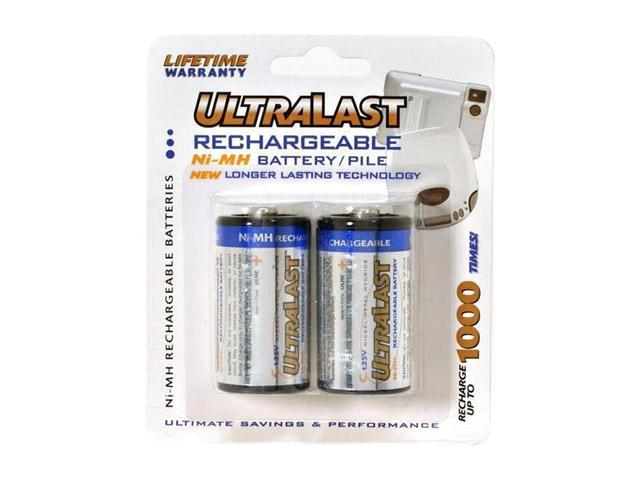 ULTRALAST UL2C 2-pack 3000mAh Size C Ni-MH Rechargeable Batteries