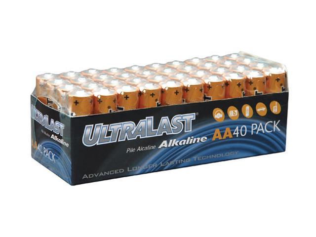 ULTRALAST UL40AAVP 40-pack AA Alkaline Batteries