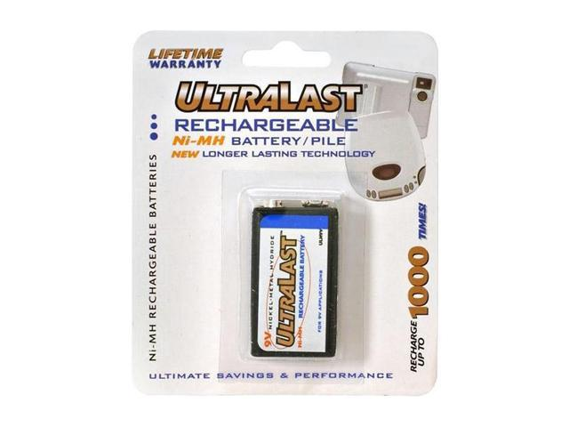 ULTRALAST UL9V 1-pack 160 mAh 9V Ni-MH Rechargeable Batteries