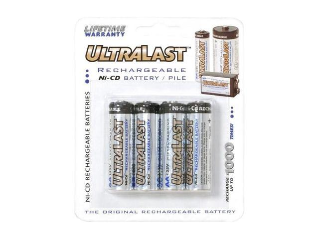 ULTRALAST ULN4AA 4-pack 700mAh AA Ni-Cd Rechargeable Batteries