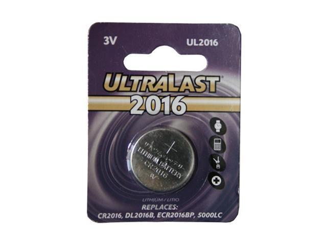 ULTRALAST UL2016 1-pack 80mAh 2016 Lithium Coin Cell Batteries