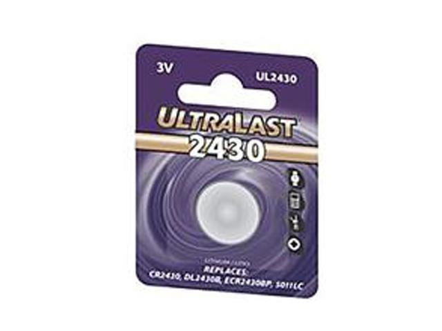 ULTRALAST UL2430 1-pack 280mAh 2430 Lithium Coin Cell Batteries