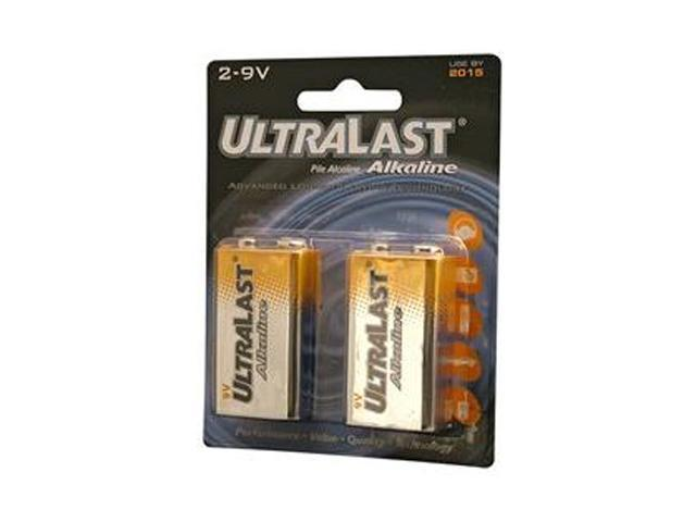 ULTRALAST ULA29V 2-pack 9V Alkaline Batteries