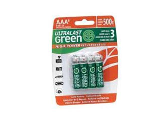 UltraLast Green ULGHP8AAA 8-pack AAA 800mAh Ni-MH Rechargeable Batteries