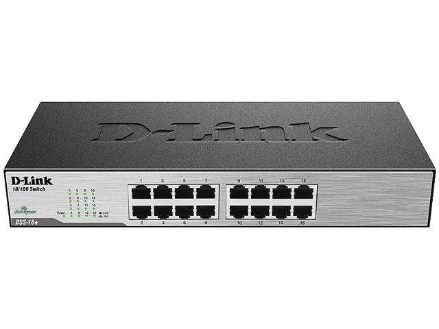 D-Link DSS-16+ Unmanaged 16-Port Desktop/Rackmount Switch