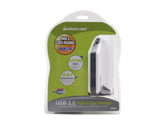IOGEAR GUH284R USB 2.0 Hub & Card Reader