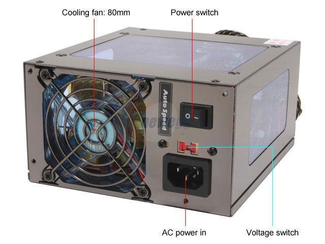 KINGWIN ABT-520CW 520W ATX 12V Ver.2.2 SLI Certified CrossFire Ready Modular Power Supply