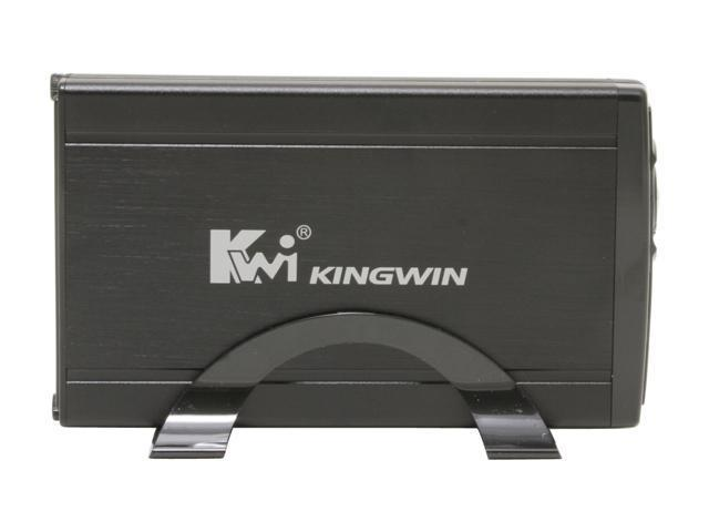 "KINGWIN JT-35E-BK Aluminum 3.5"" Black eSATA External Enclosure w/ Fan"