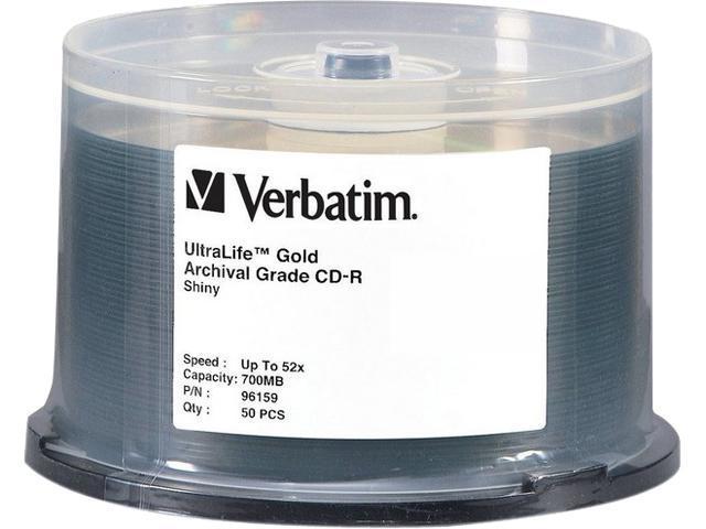 Verbatim 700MB 52X CD-R 50 Packs UltraLife Gold Archival Grade Disc Model 96159 - OEM