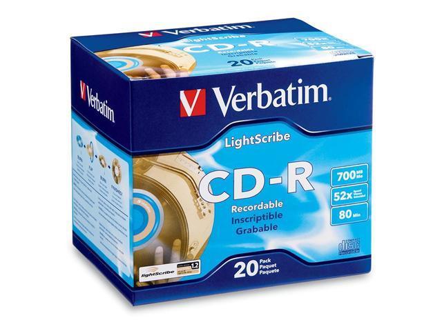 Verbatim 700MB 52X CD-R LightScribe 20 Packs Disc Model 95092