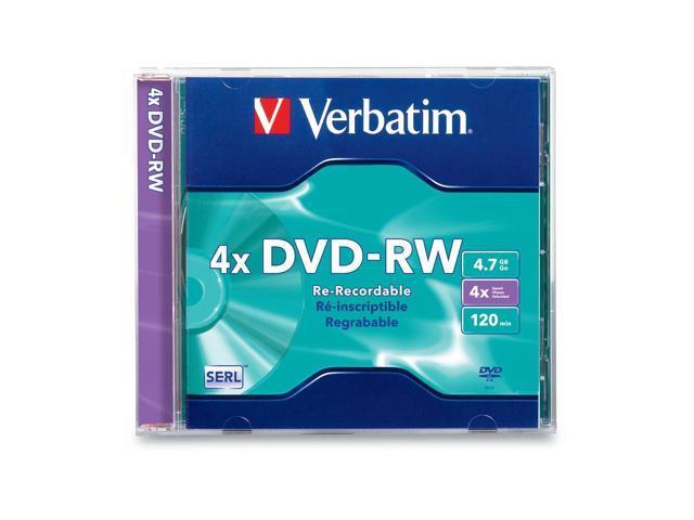 Verbatim 4.7GB 4X DVD-RW Single Disc Model 94836