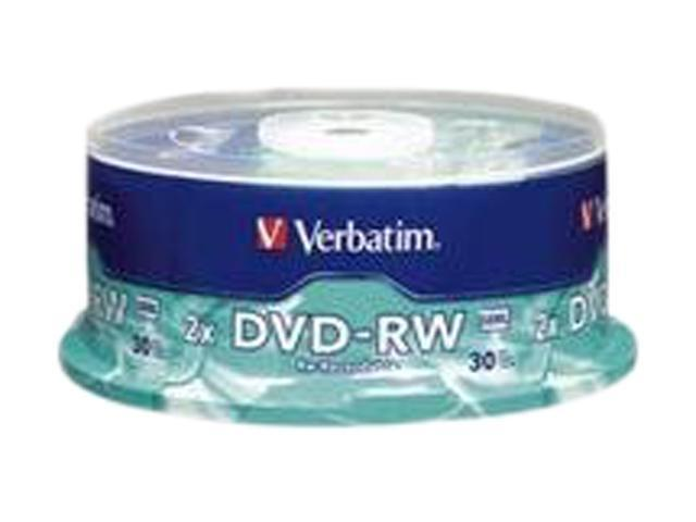 Verbatim 4.7GB 2X DVD-RW 30 Packs Media Model 95179