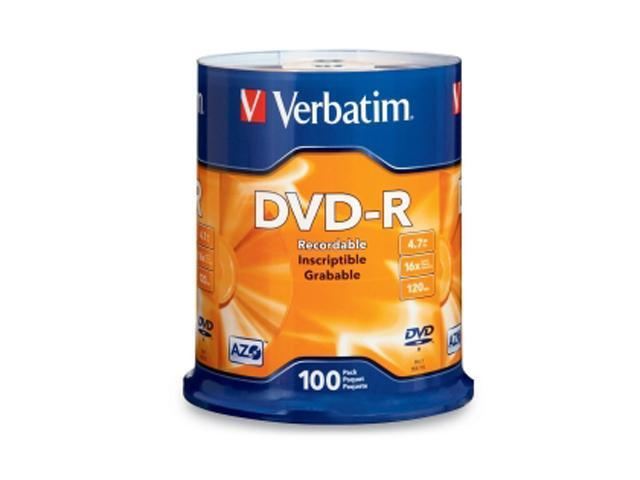 Verbatim 4.7GB 16X DVD-R 200 Packs Media Model 95102-2KIT