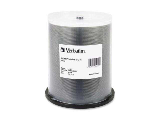 Verbatim 700MB 52X CD-R Inkjet Printable 100 Packs Media Model 95256