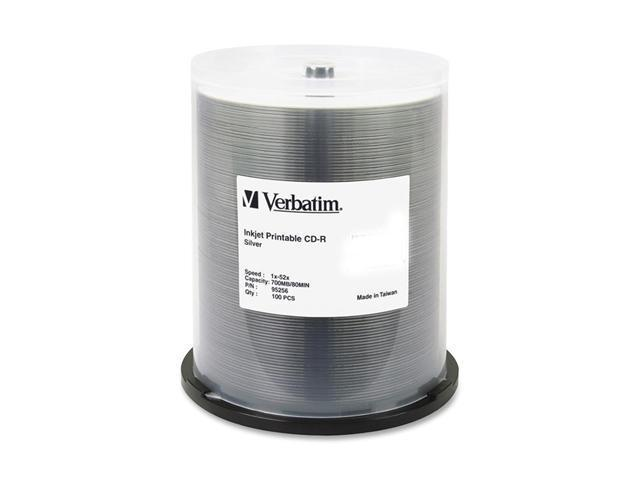 Verbatim 700MB 52X CD-R Inkjet Printable 100 Packs Media Model 95256