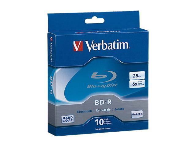 Verbatim 25GB 6X BD-R 10 Packs Disc Model 97238