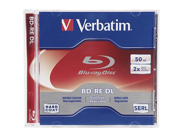 Verbatim 50GB 2X BD-RE DL Single Disc Model 97536