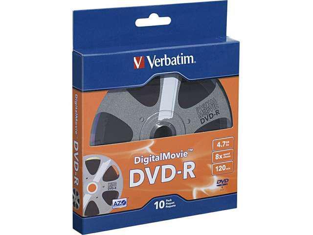 Verbatim Digital Movie DVD-R 10pk Bulk Box