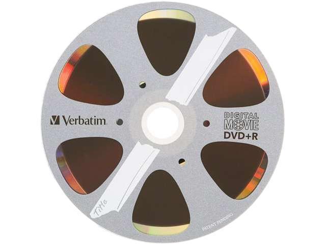 Verbatim DigitalMovie DVD Recordable Media - DVD+R - 8x - 4.70 GB - 10 Pack Box - Bulk