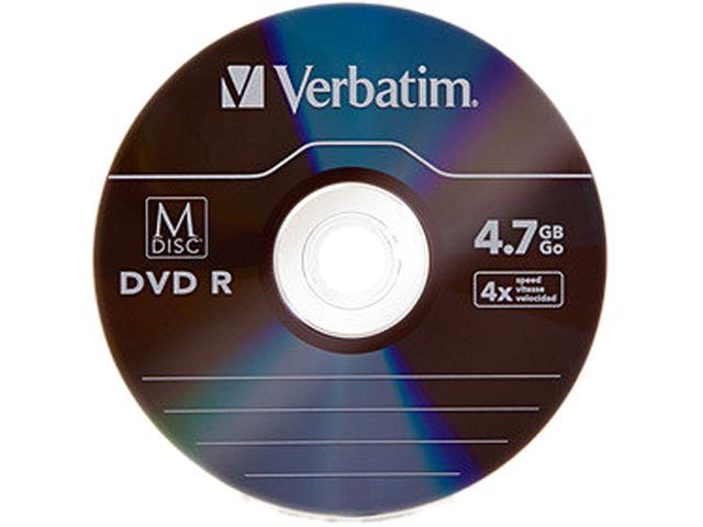 Verbatim 4.7GB 4X DVD-R 5 Packs Disc Model 98899