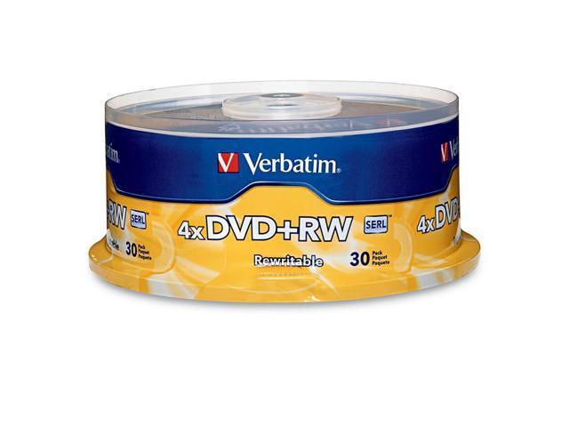 Verbatim 4.7GB 4X DVD+RW 30 Packs Disc Model 94834