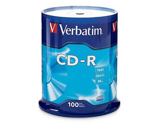 Verbatim 700MB 52X CD-R 100 Packs Disc Model 94554