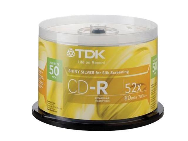 TDK 700MB 48X CD-R 50 Packs Disc Model 47959