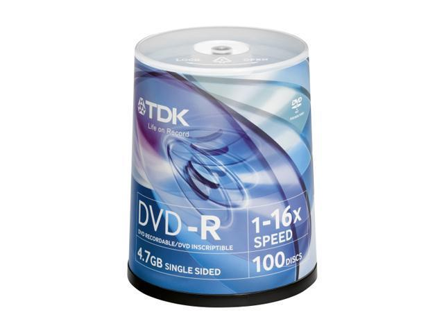 TDK 4.7GB 16X DVD-R 200 Packs DVD Recordable Media Model 48520-KIT