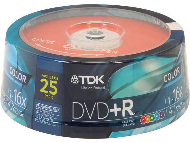 TDK 4.7GB 16X DVD+R 25 Packs Disc Model 61714TD004CP
