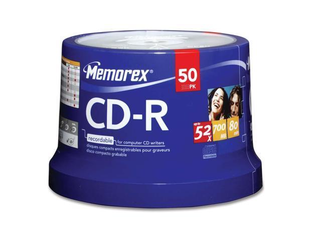 memorex 700MB 52X CD-R 50 Packs Disc Model 04563