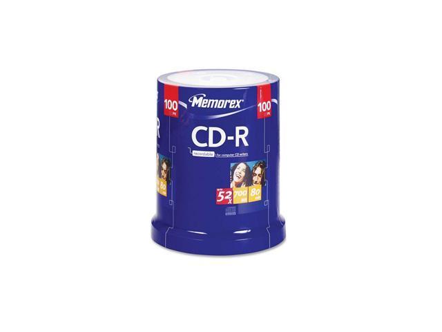 memorex 700MB 52X CD-R 100 Packs Disc Model 04581
