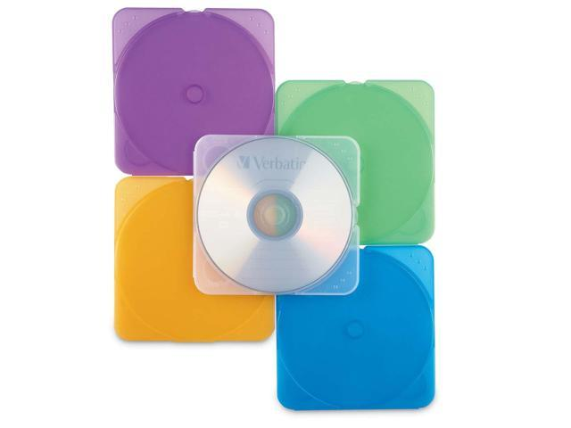 Verbatim 93804 CD/DVD TRIMpak Color Cases 10pk