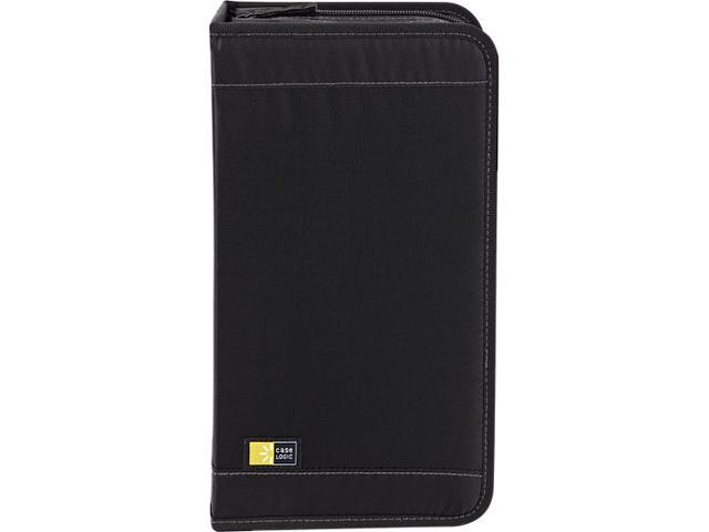 Case Logic CDW-92 CD Wallet Nylon Black Hold Up to 100 CDs