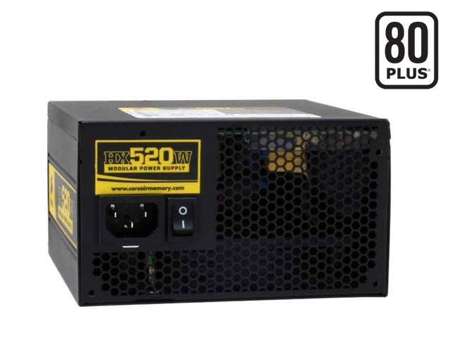 CORSAIR HX Series CMPSU-520HX 520W ATX12V v2.2 and EPS12V 2.91 SLI Certified CrossFire Ready 80 PLUS Certified Modular Active PFC Compatible with Core i7 Power Supply