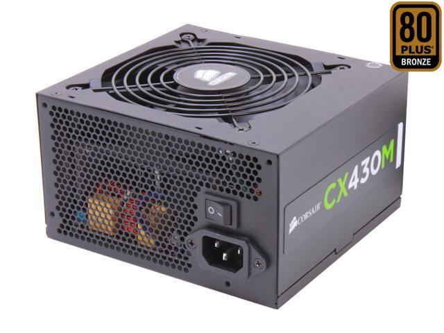 CORSAIR CX-M series CX430M 430W 80 PLUS BRONZE Active PFC ATX12V & EPS12V Modular Power Supply