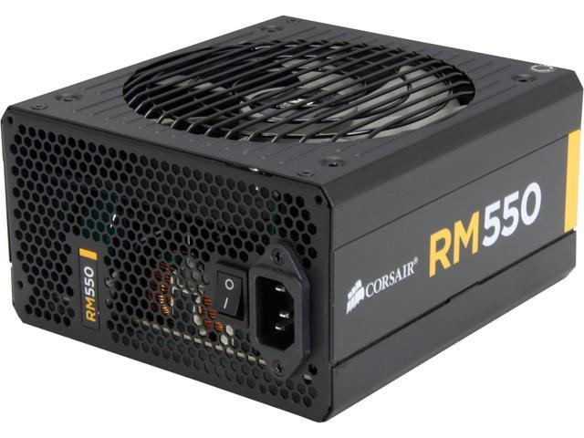 CORSAIR RM Series RM550 550W ATX12V v2.31 and EPS 2.92 80 PLUS GOLD Certified Full Modular Active PFC Power Supply