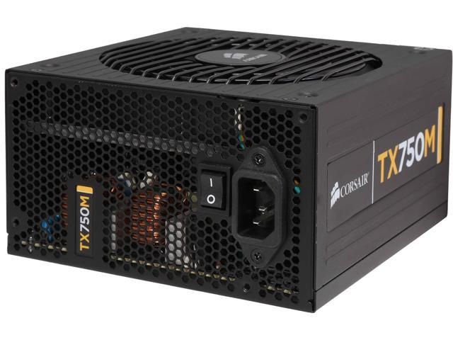 CORSAIR Enthusiast Series TX750M 750W ATX12V v2.31 / EPS12V v2.92 80 PLUS BRONZE Certified Semi Modular High Performance Power Supply New 4th Gen CPU Certified Haswell Ready