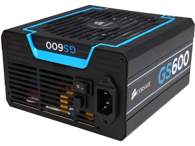 CORSAIR GS series GS600 600W ATX12V v2.3 SLI Ready CrossFire Ready 80 PLUS BRONZE Certified Active PFC Power Supply New 4th Gen CPU Certified Haswell Ready Factory Refurbished