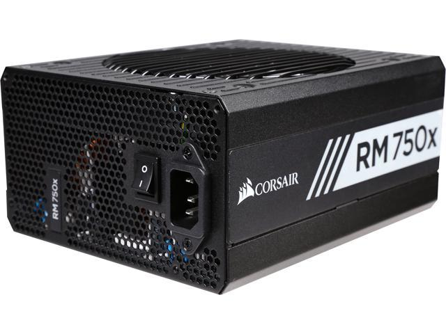 Corsair Certified RMx Series RM750x 750W 80 Plus Gold Full Modular Power Supply (CP-9020092-NA/RF)