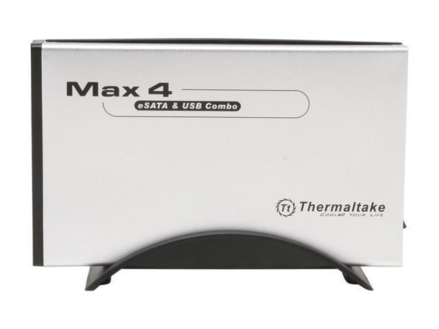 "Thermaltake MAX 4 N0003US Aluminum & Plastic 3.5"" USB2.0 & eSATA Combo External Enclosure"