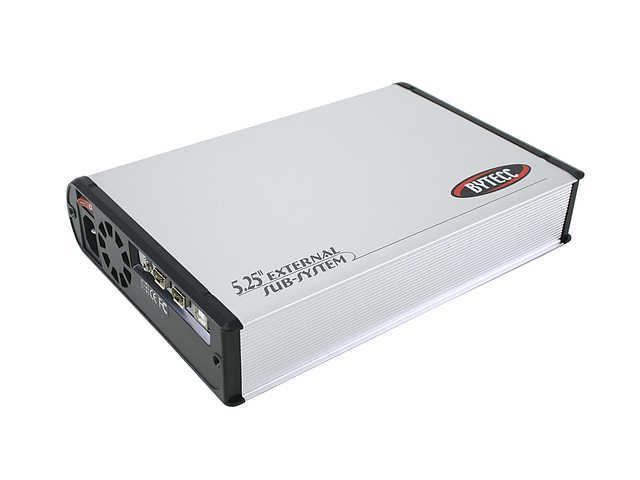"""BYTECC ME-340U2F Aluminum 5.25"""" USB 2.0 (type B) + IEEE1394 Silver External Enclosure"""