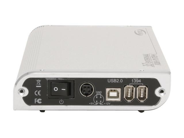 "BYTECC BT-380U2F(SL) Aluminum 3.5"" USB 2.0 & 1394a External Enclosure with small Penguins LED"