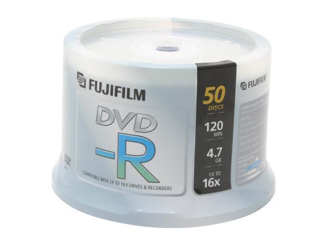 FUJIFILM 4.7GB 16X DVD-R 50 Packs Disc Model 25303151